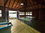 Play a game of ping-pong in the boathouse.