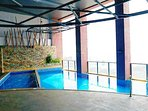 cutie swimming pool for kids and adults with the view of Manila Bay, US Embassy, Ocean Park..