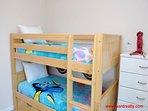 1st Floor Streetside Bedroom w/ Bunk Bed