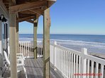2nd Floor Oceanfront Deck (Partially Covered)