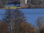 There are cycle paths by Loch Leven Castle
