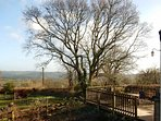 Winter view across the Blackdown Hills from our cottage.