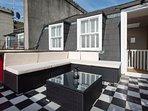 sofa on roof terrace