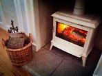 Wonderfully Cosy Log Burning Stove