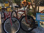 Complimentary bicycles on-site for cruising the Key.