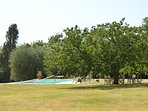 beautiful park of 6 hectares at your disposal , with  private pool and tennis court..