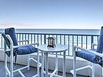 Head out to the private balcony and breathe fresh ocean air.