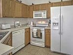 Look forward to constructing tasty dishes in the fully equipped kitchen.