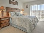 You'll love sleeping in the master bedroom's plush queen-sized bed.