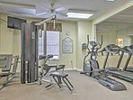 Wake up in the mornings with a work out in the community gym.