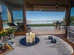 Living Room Area with panoramic sea views