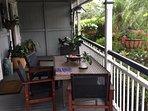 Breakfast on the front verandah