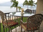 Patio table and chairs on our lanai... our  favorite place to relax.!