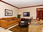 Comfortable Living Area with Flat Screen TV