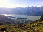 Vista dell'abitato di Colico dall'Alpe Scoggione (1575m)