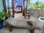 Master bedroom screened balcony