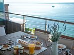 Enjoy breakfast with these superb sea views!