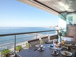 Fantastic sea views from the first floor terrace