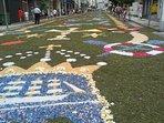 alfombras florales Fiestas del Carmen 16 julio