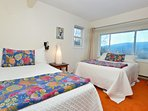 Two double beds with gorgeous mountain view