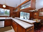 open kitchen with all appliances makes cooking fun for groups