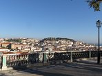 view of historical Lisbon from a nice belvedere
