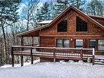 winter wonderland at Red Apple Cabin