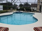 large pool plus extended pool deck and spa
