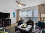 Large living room with amazing gulf views
