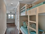 This gorgeous unit has hallway bunks for extra sleeping