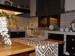 cucina in muratura con maioliche siciliane