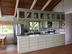Fully kitchen overlooking grassy countryside