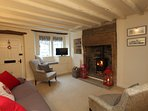 Enjoy the cosy wood burning stove during those cooler evenings