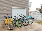 Bike to the beach or community pool on our complimentary bikes... the yellow one is a 2-seater!