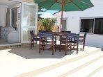 sunny & private patio