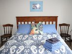 Your bedroom is light and airy with a very comfortable bed.