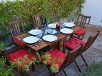 Garden furniture for the private garden.