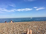 Beach in the summer - spot the happy toes!