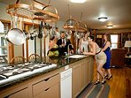 The large kitchen is a great place for gatherings.