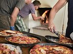 Pizza time! - make your own in the original wood fired oven - free wood - enjoy yourselves!