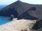 Playa de los Muertos vista desde el mirador- A 25 kms en coche desde casa