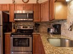 Fully remodeled kitchen with full sized appliances.