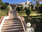 Classy entrance to villa.