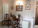 Quaint antique dining in the sitting room.