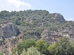 Dalayan Tombs, photo taken on a boat trip. One of the many excursions available whilst at the villa.