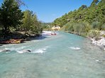 Visit Saklikent Gorge and take a trip down the rapids on a raft.