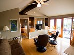Cottage doors open onto your own private deck with Hot tub.