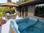 Your own private deck and Jacuzzi Hot Tub.