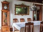 Large dining table and period furniture