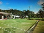 Shared tennis court